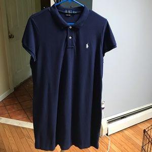 "Polo ""The Mesh Mini Dress"" Size XL Navy Blue"